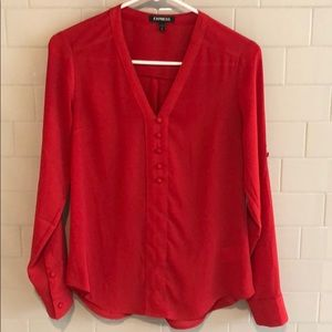 Express long sleeved blouse